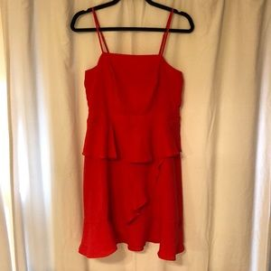 Collective Concepts Red Ruffled Dress